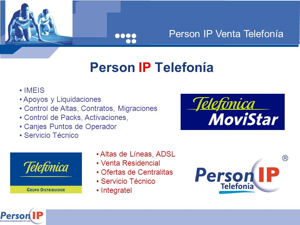 Person IP Telefonía Person IP Venta Telefonía IMEIS
