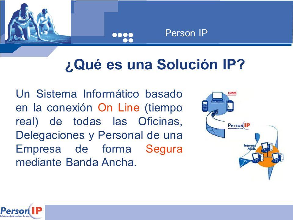 Person IP ¿Qué es una Solución IP