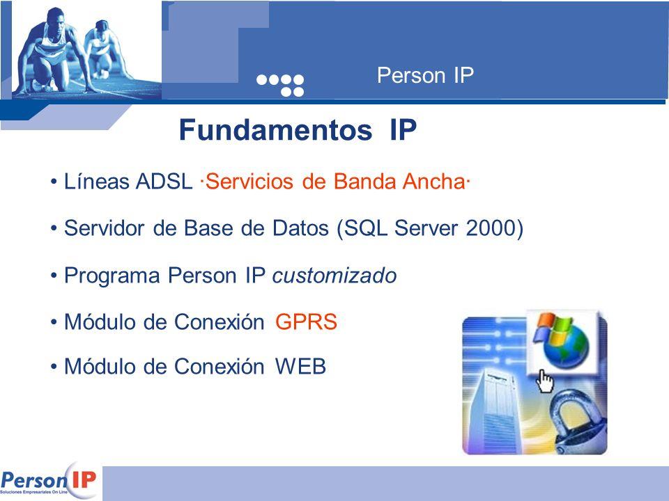 Fundamentos IP Person IP Líneas ADSL ·Servicios de Banda Ancha·