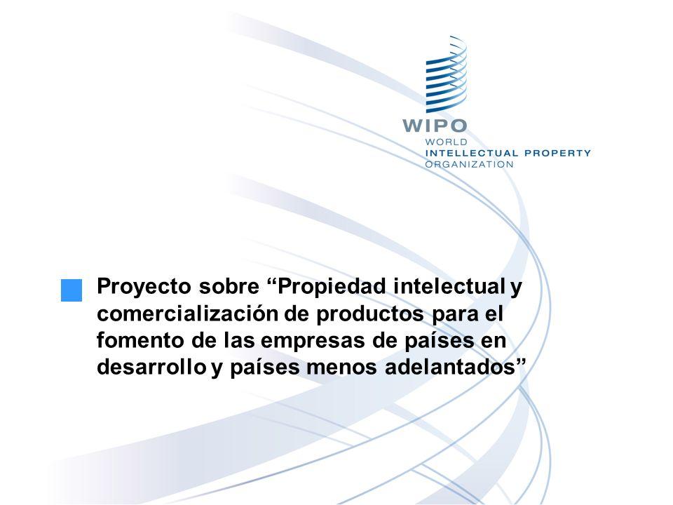 Proyecto sobre Propiedad intelectual y comercialización de productos para el fomento de las empresas de países en desarrollo y países menos adelantados