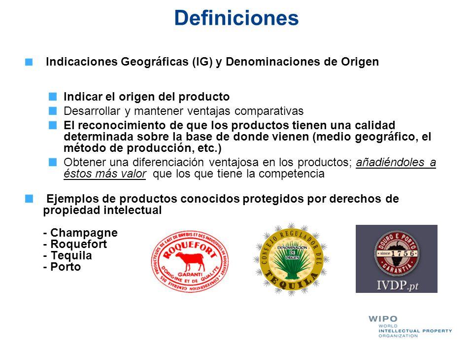 Definiciones Indicar el origen del producto