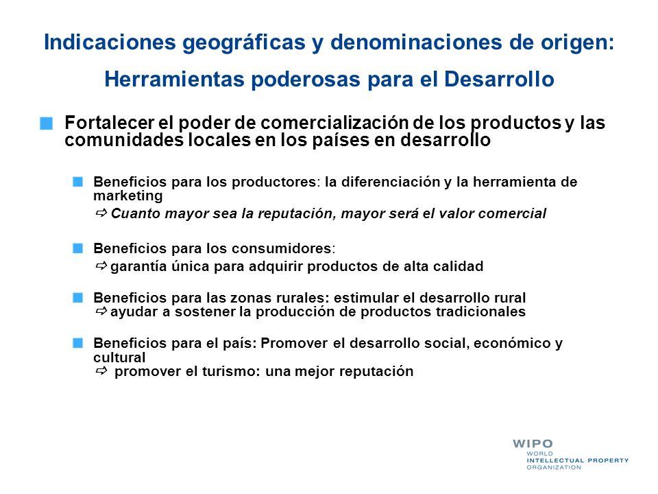 Indicaciones geográficas y denominaciones de origen: Herramientas poderosas para el Desarrollo