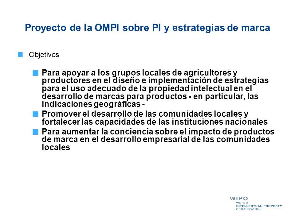 Proyecto de la OMPI sobre PI y estrategias de marca