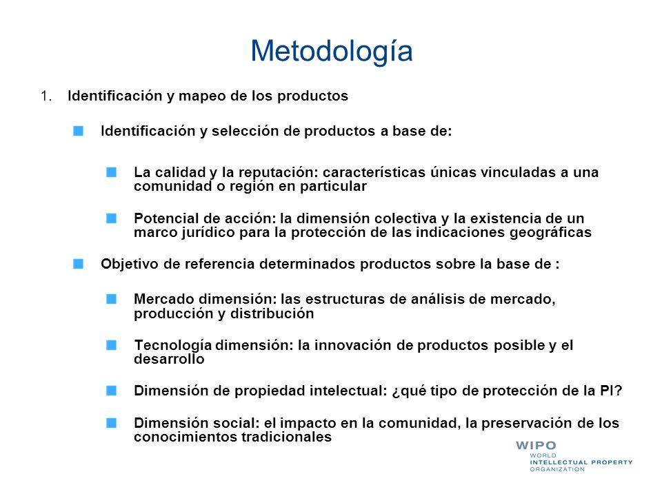 Metodología 1. Identificación y mapeo de los productos