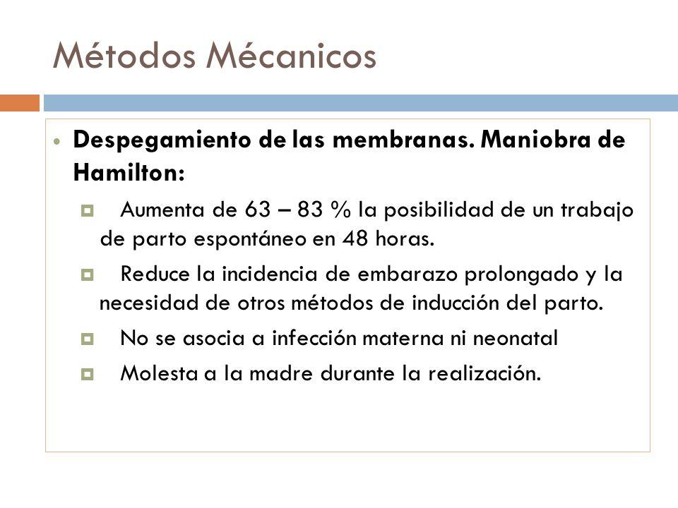 Métodos MécanicosDespegamiento de las membranas. Maniobra de Hamilton: