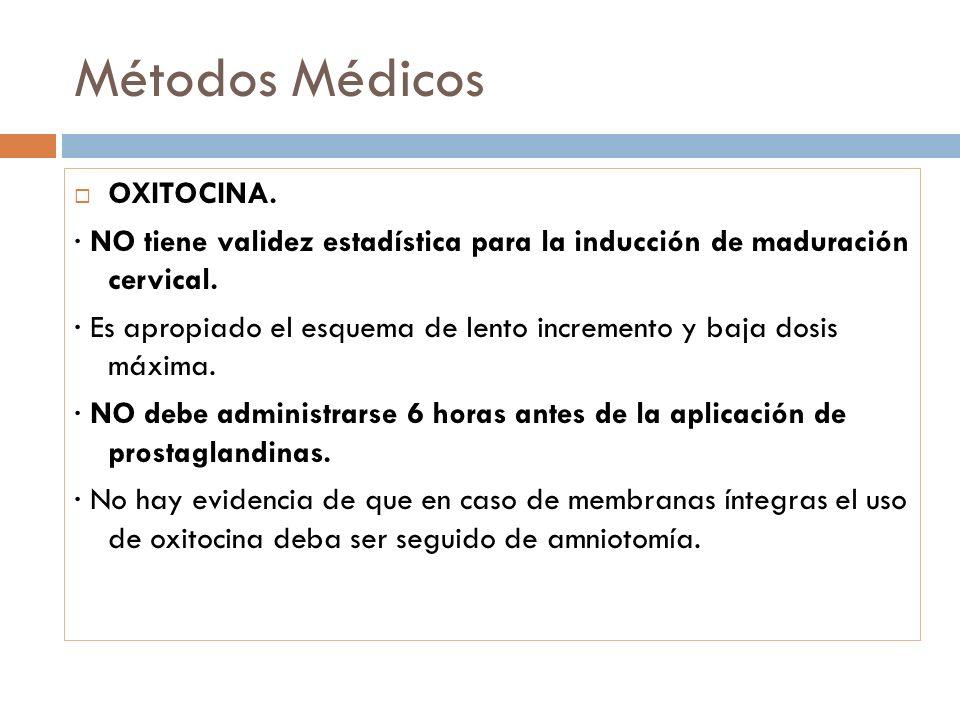 Métodos Médicos OXITOCINA.