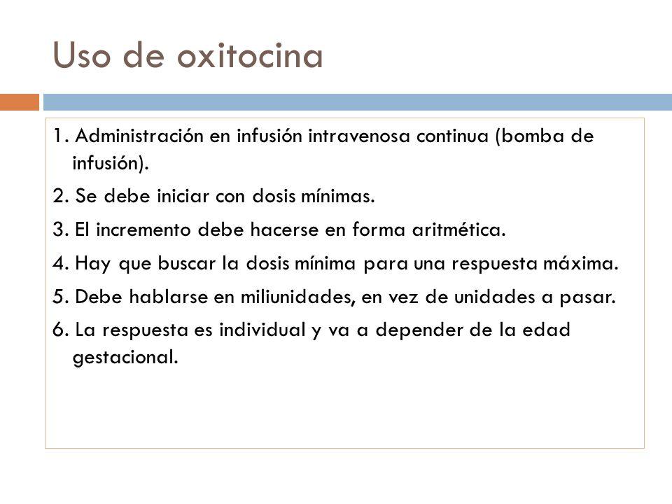 Uso de oxitocina