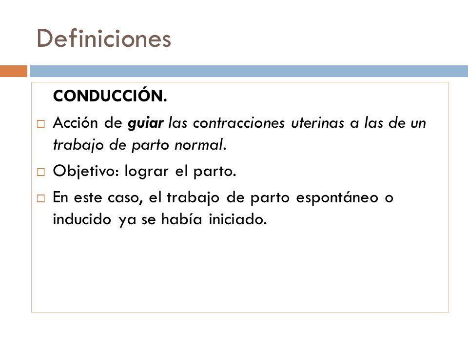 Definiciones CONDUCCIÓN.