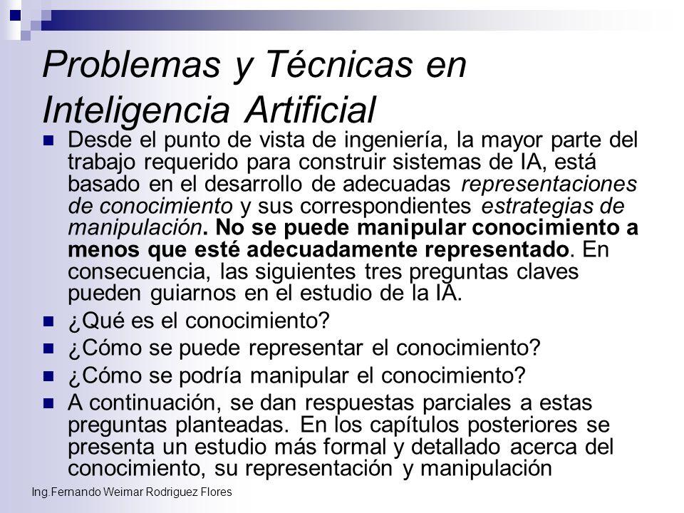 Problemas y Técnicas en Inteligencia Artificial