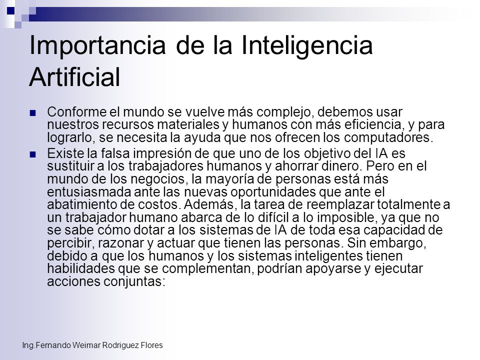 Importancia de la Inteligencia Artificial