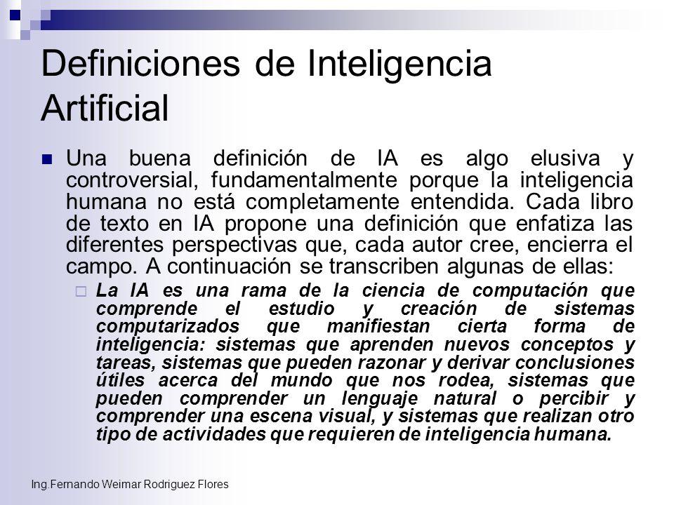 Definiciones de Inteligencia Artificial