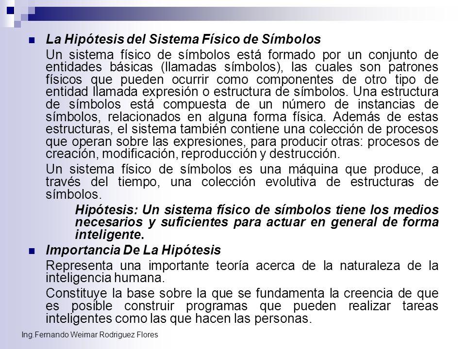 La Hipótesis del Sistema Físico de Símbolos
