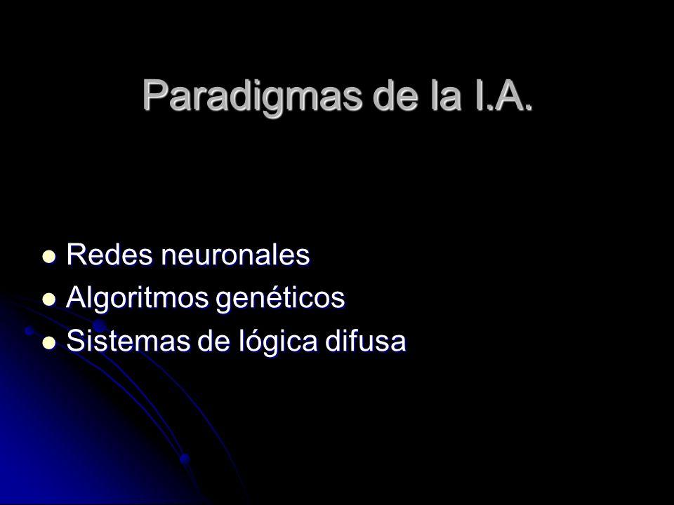 Paradigmas de la I.A. Redes neuronales Algoritmos genéticos