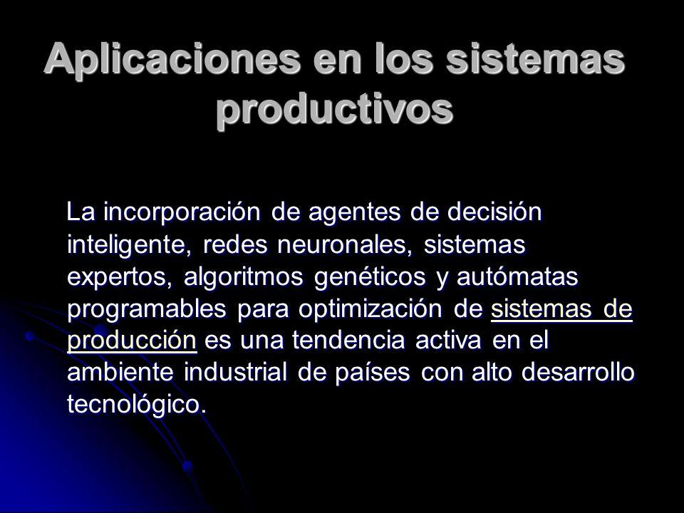 Aplicaciones en los sistemas productivos