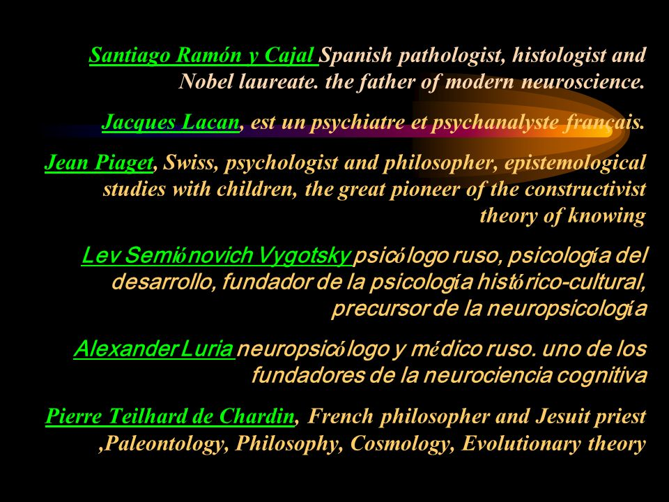 Santiago Ramón y Cajal Spanish pathologist, histologist and Nobel laureate.