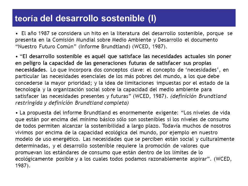 teoría del desarrollo sostenible (I)