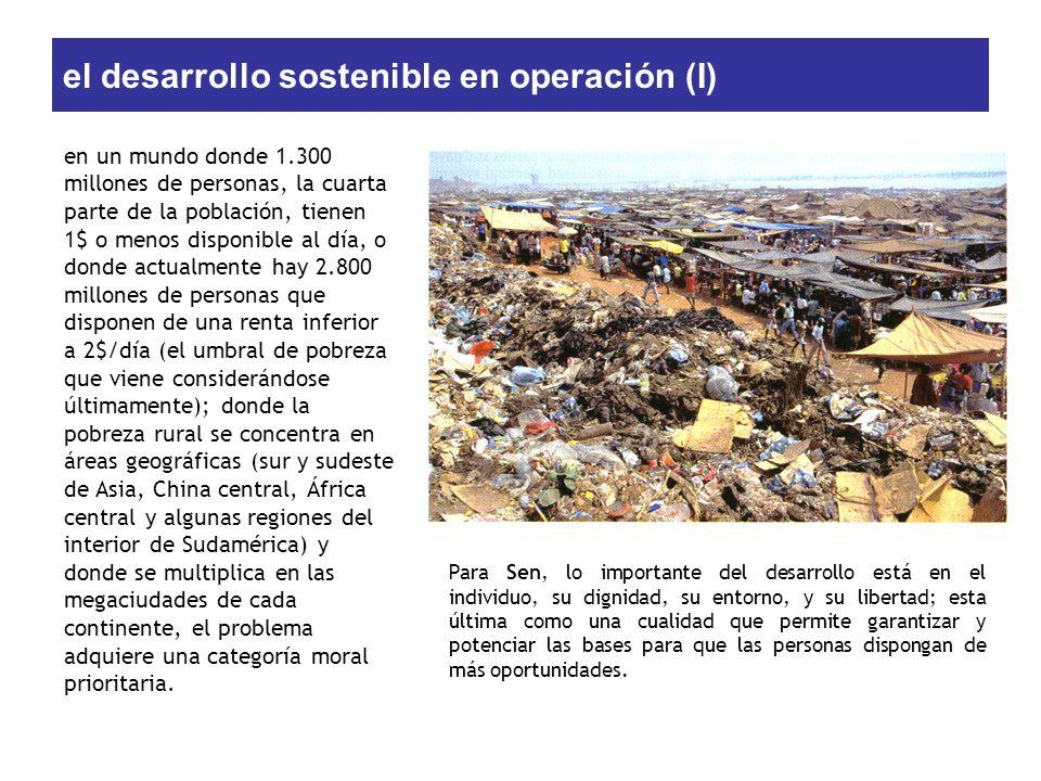 el desarrollo sostenible en operación (I)