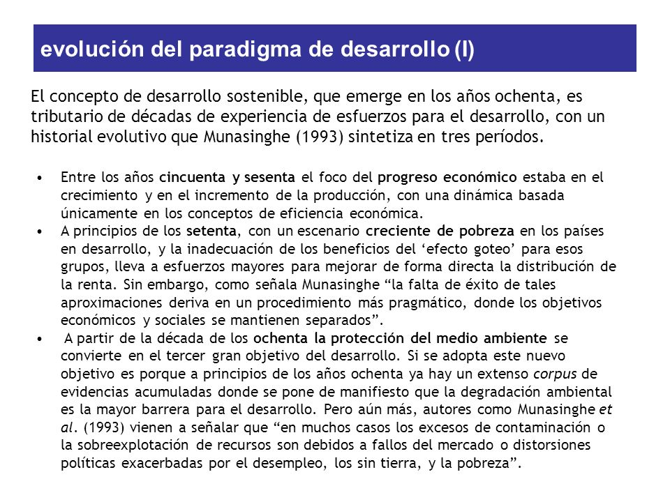 evolución del paradigma de desarrollo (I)