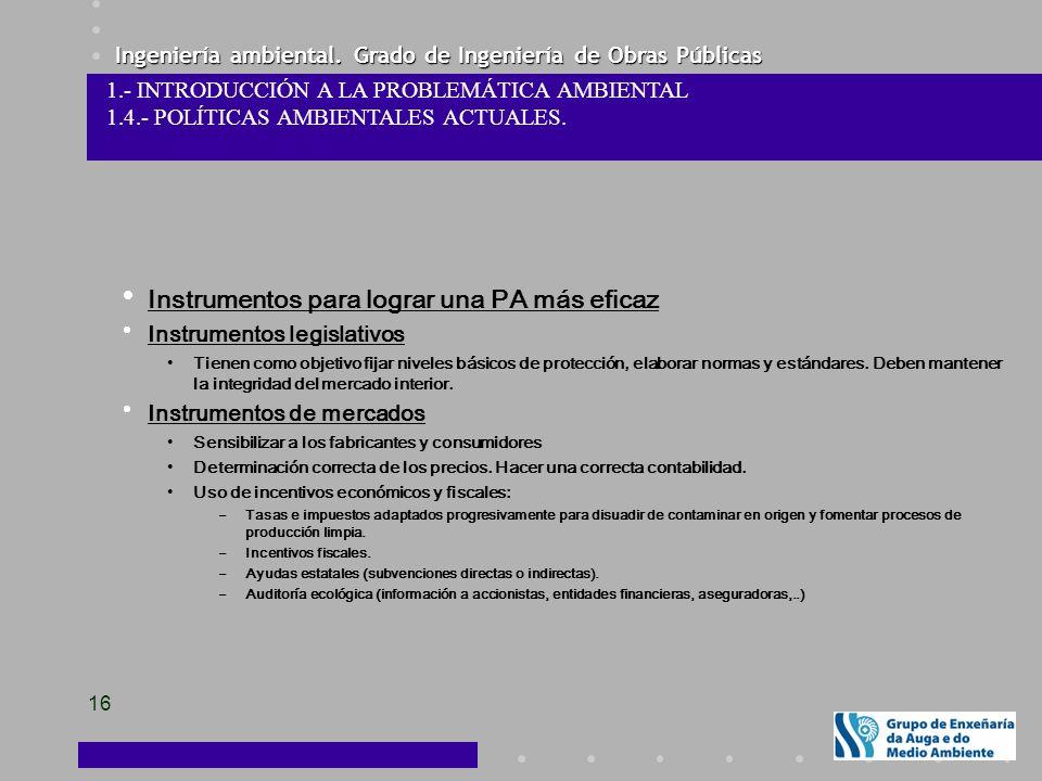 Instrumentos para lograr una PA más eficaz