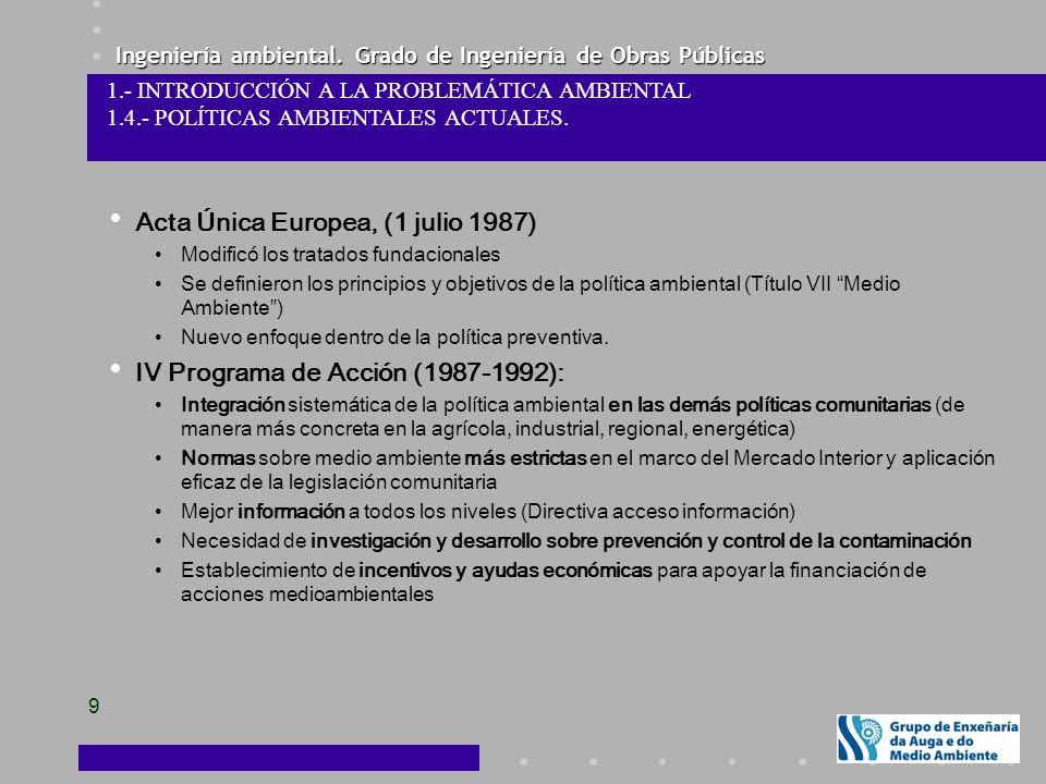 Acta Única Europea, (1 julio 1987)