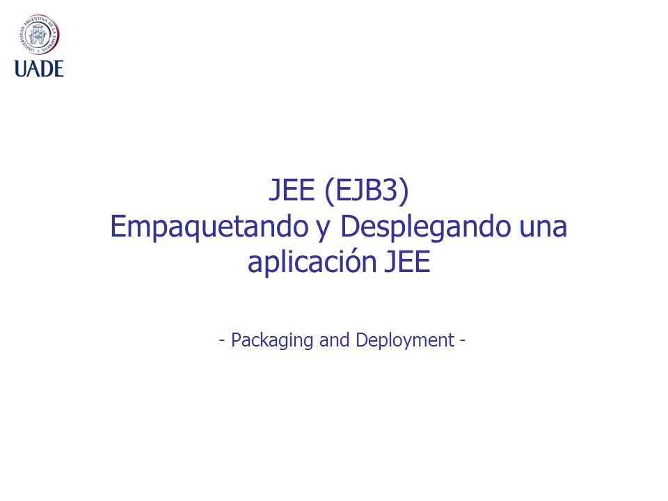 JEE (EJB3) Empaquetando y Desplegando una aplicación JEE