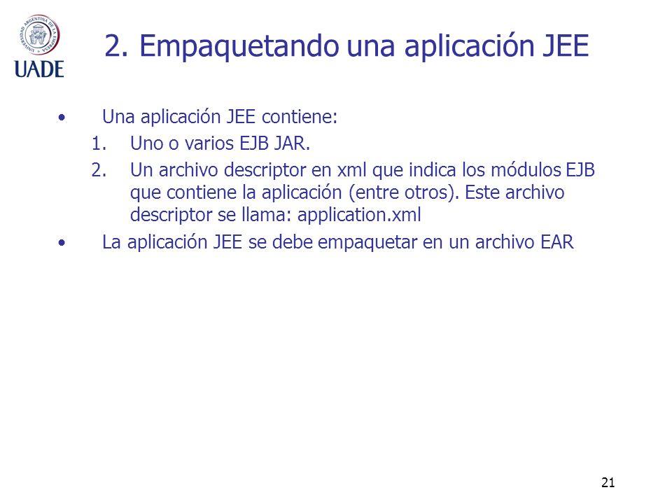 2. Empaquetando una aplicación JEE