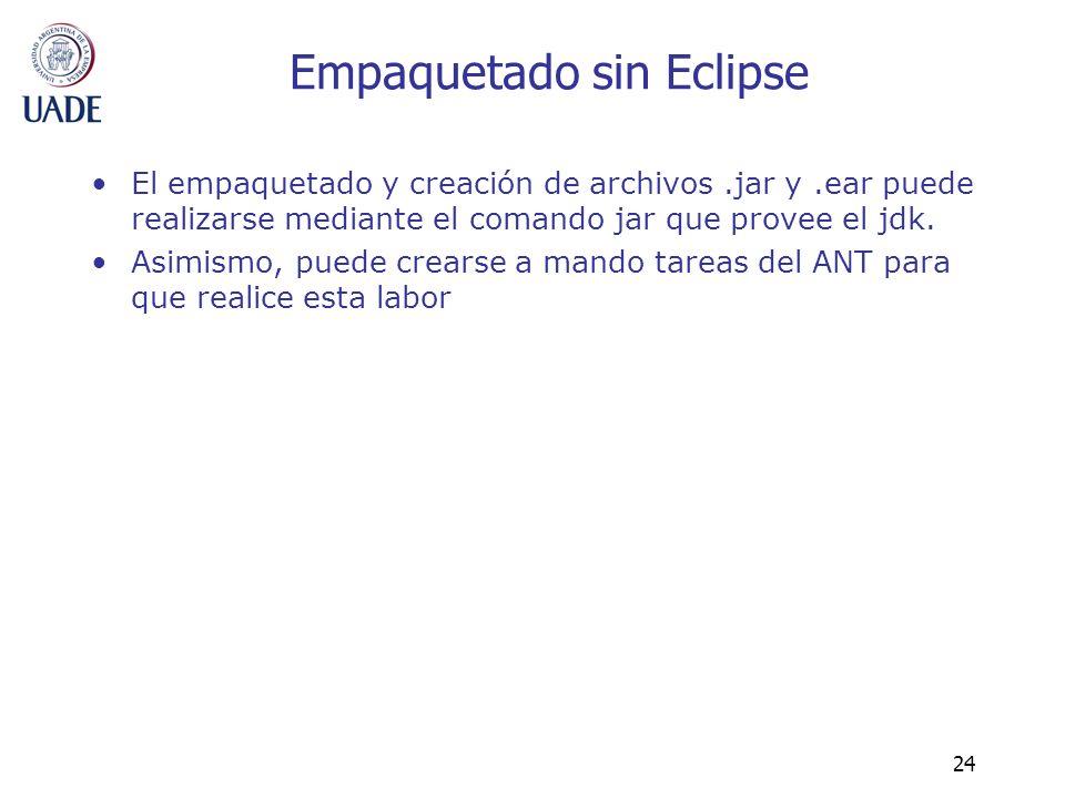 Empaquetado sin Eclipse