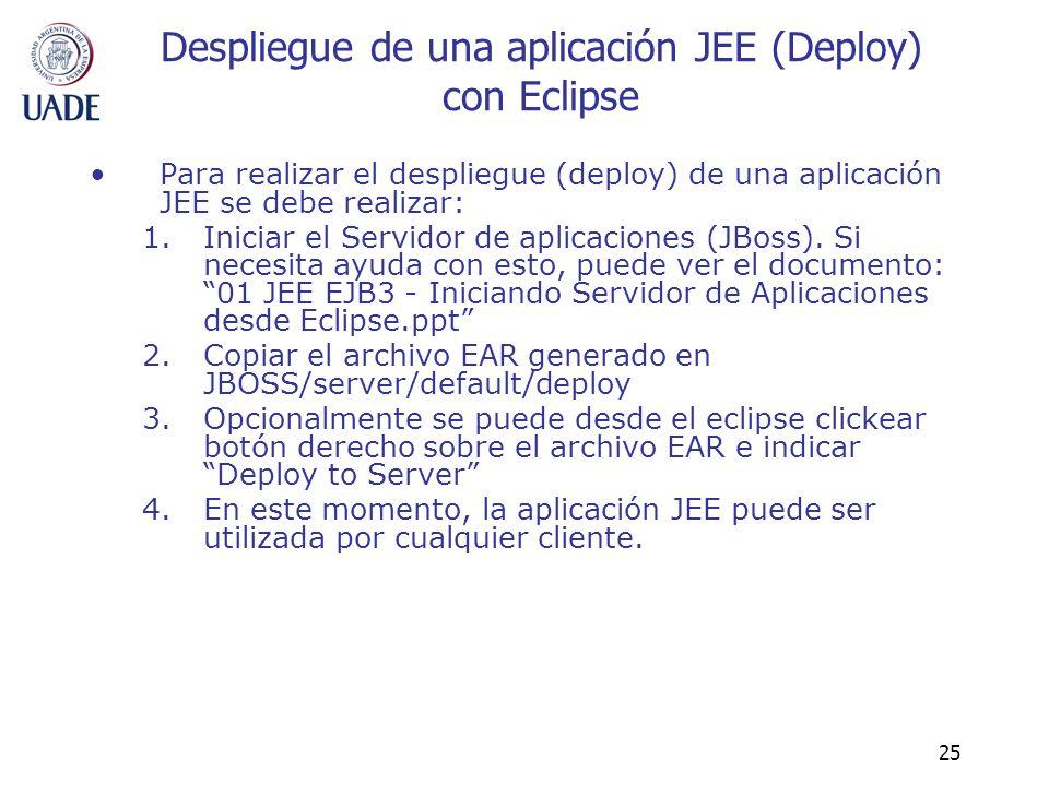 Despliegue de una aplicación JEE (Deploy) con Eclipse