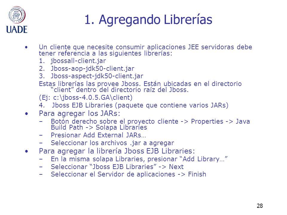 1. Agregando Librerías Para agregar los JARs: