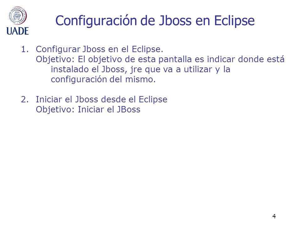 Configuración de Jboss en Eclipse