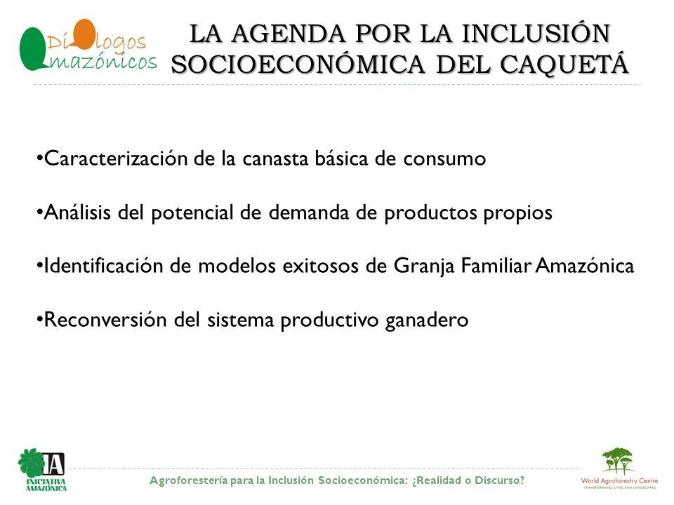 LA AGENDA POR LA INCLUSIÓN SOCIOECONÓMICA DEL CAQUETÁ