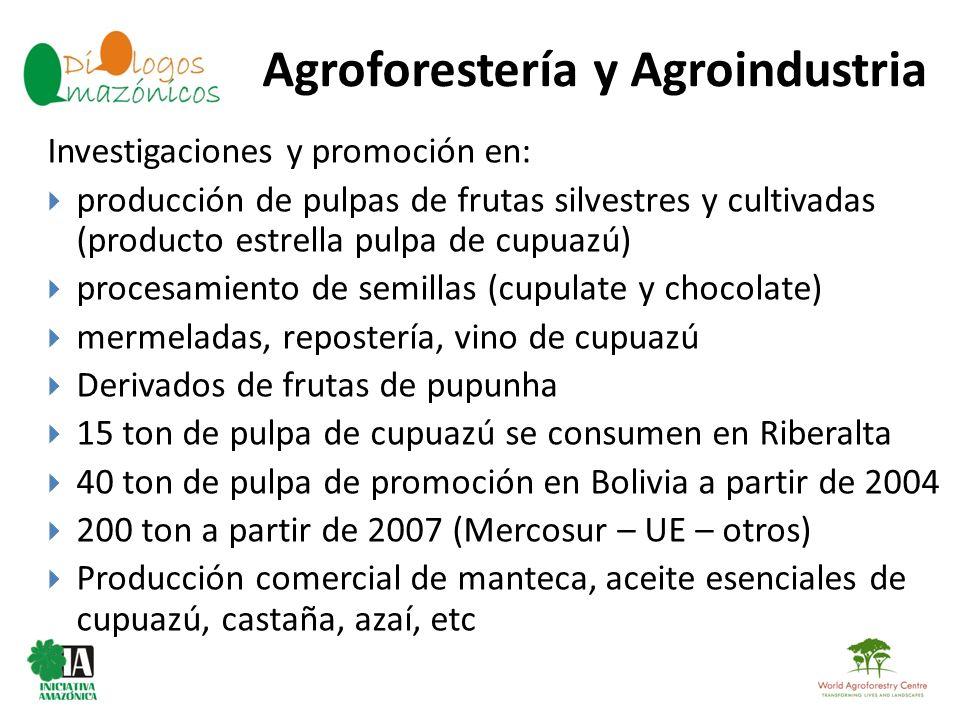 Agroforestería y Agroindustria