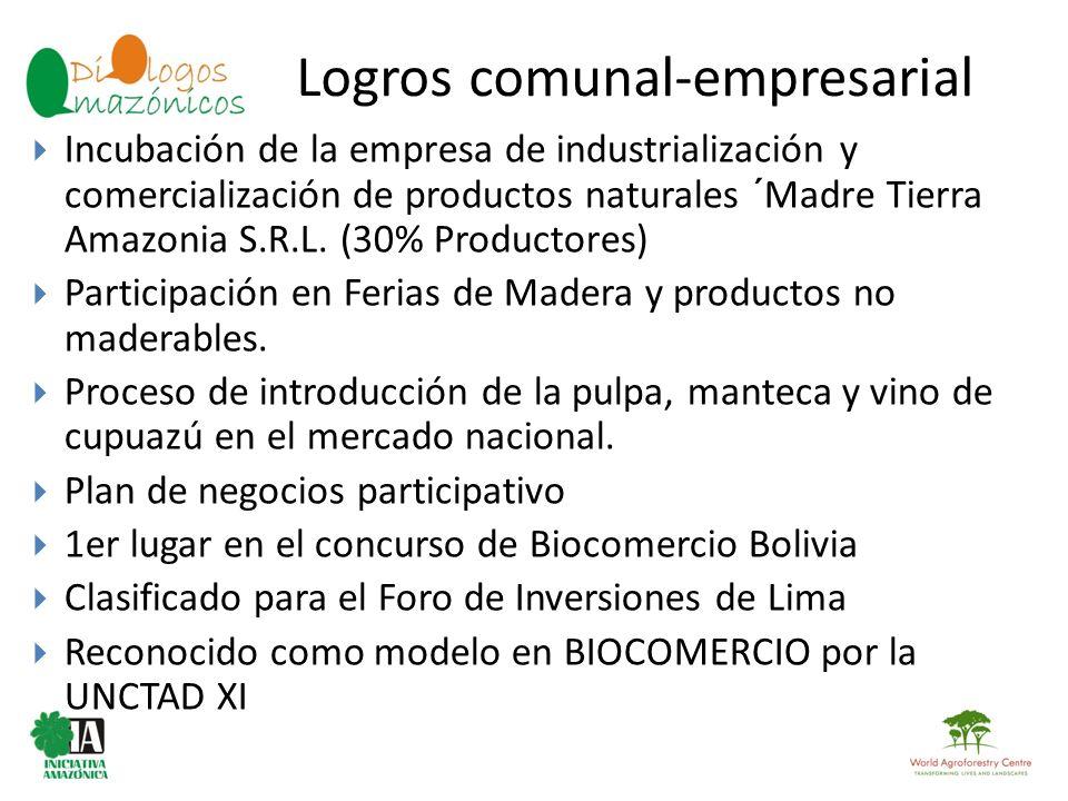 Logros comunal-empresarial