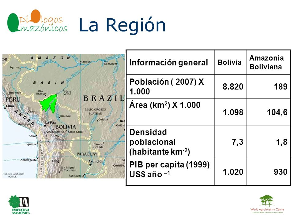 La Región Información general Población ( 2007) X 1.000 8.820 189