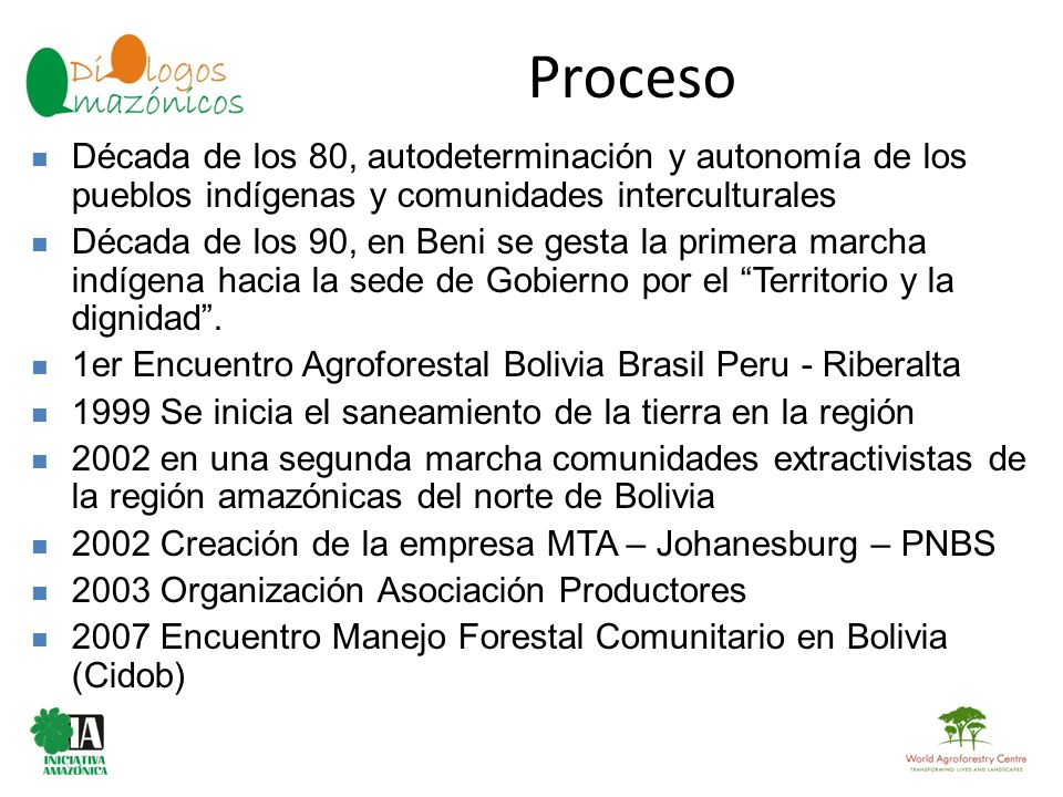 Proceso Década de los 80, autodeterminación y autonomía de los pueblos indígenas y comunidades interculturales.