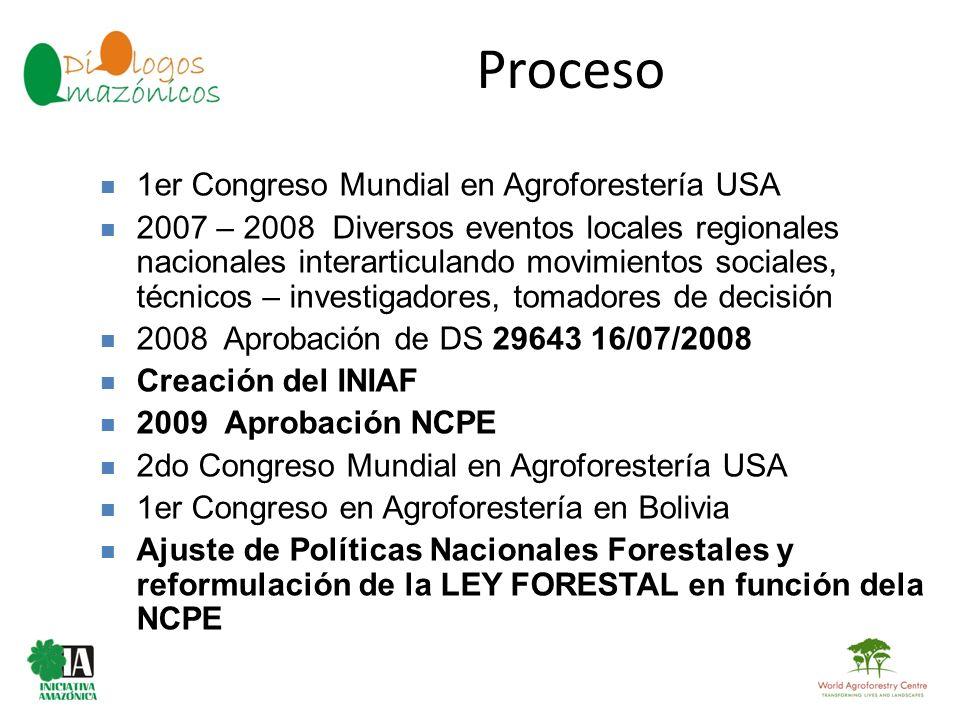 Proceso 1er Congreso Mundial en Agroforestería USA