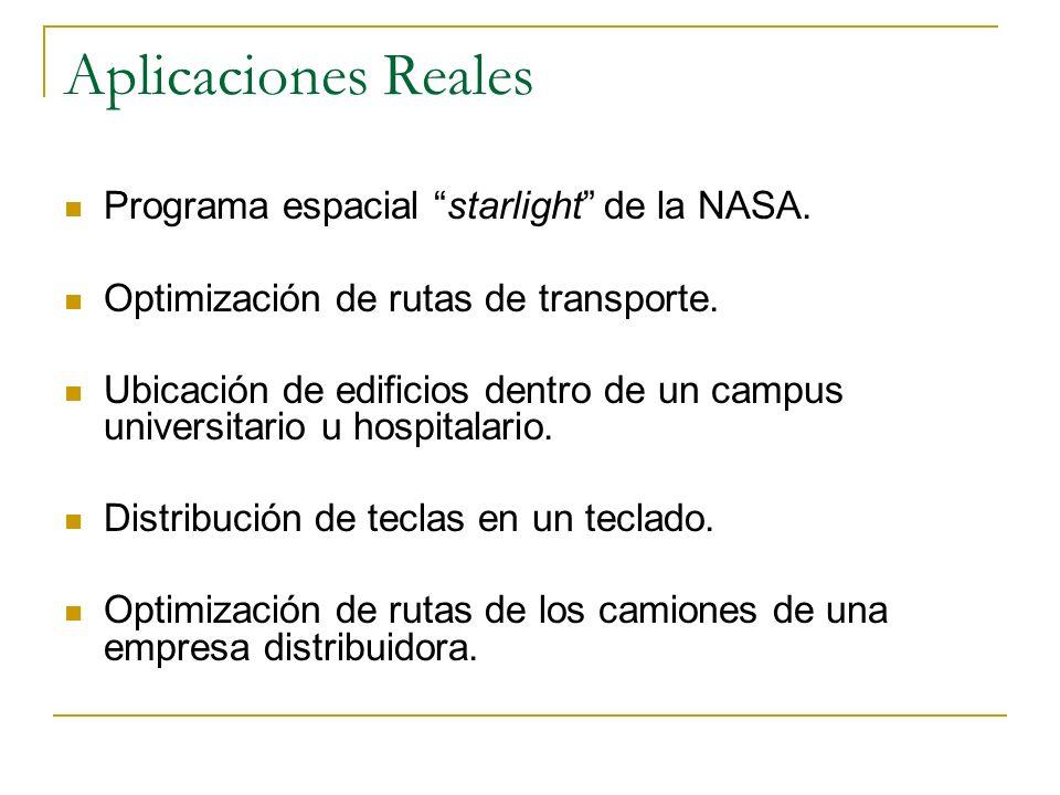 Aplicaciones Reales Programa espacial starlight de la NASA.