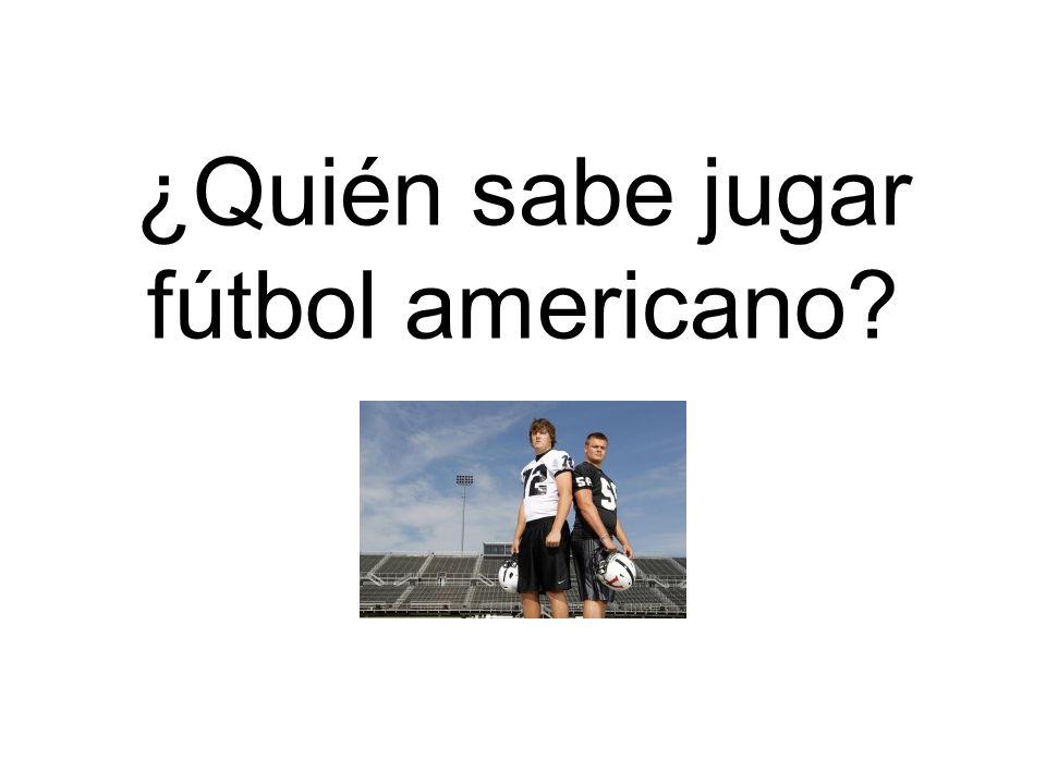 ¿Quién sabe jugar fútbol americano