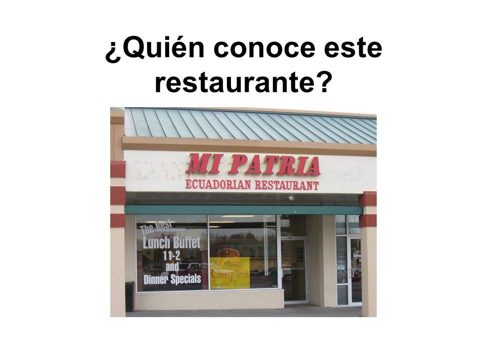 ¿Quién conoce este restaurante
