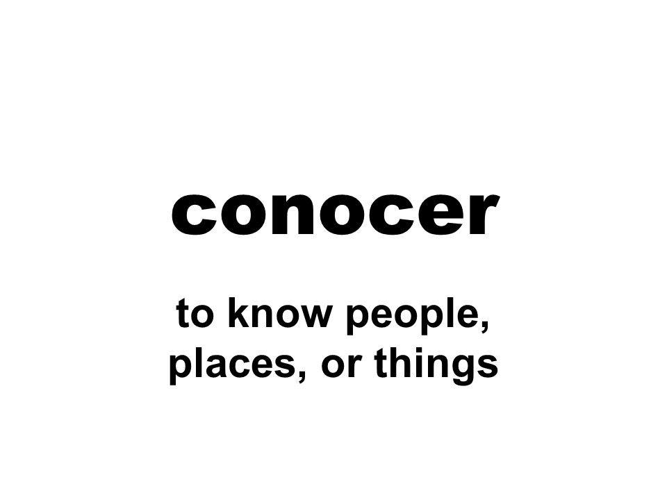 to know people, places, or things