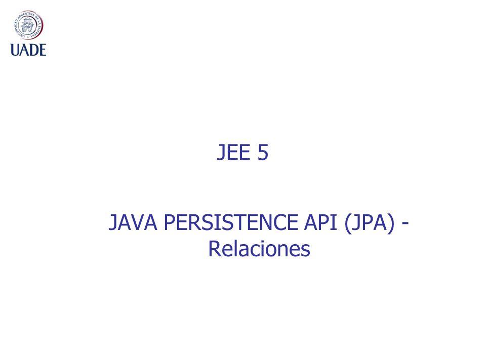 JAVA PERSISTENCE API (JPA) - Relaciones