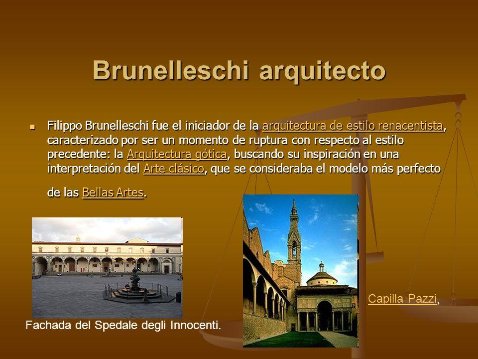 Brunelleschi arquitecto
