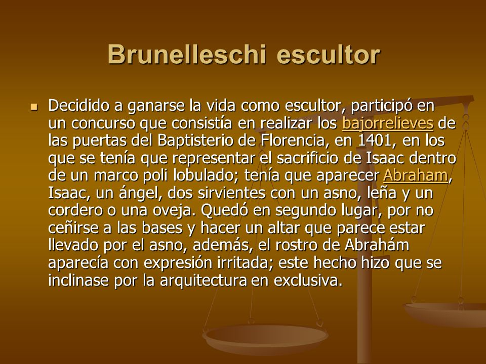 Brunelleschi escultor