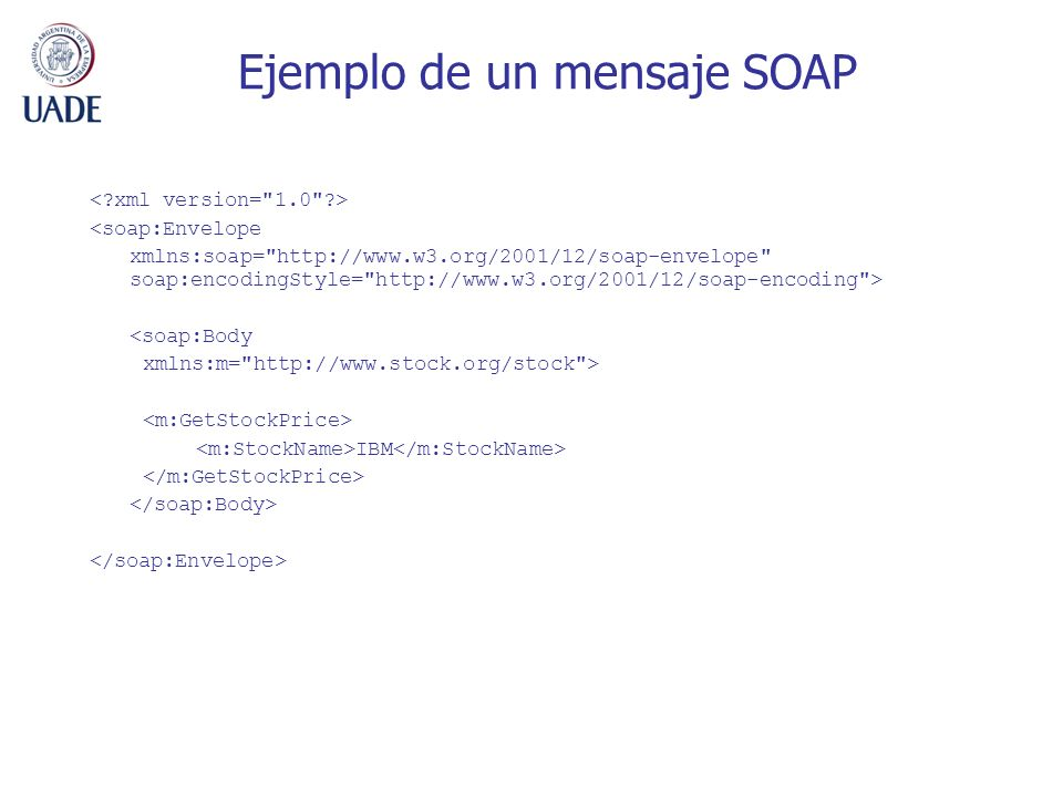Ejemplo de un mensaje SOAP
