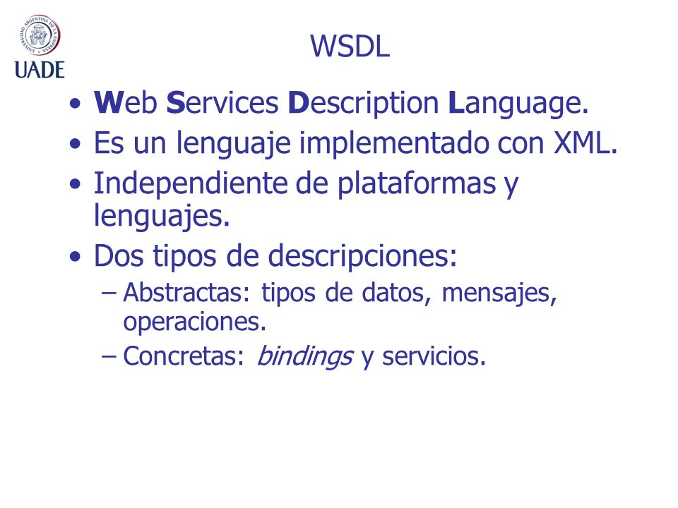 Web Services Description Language.