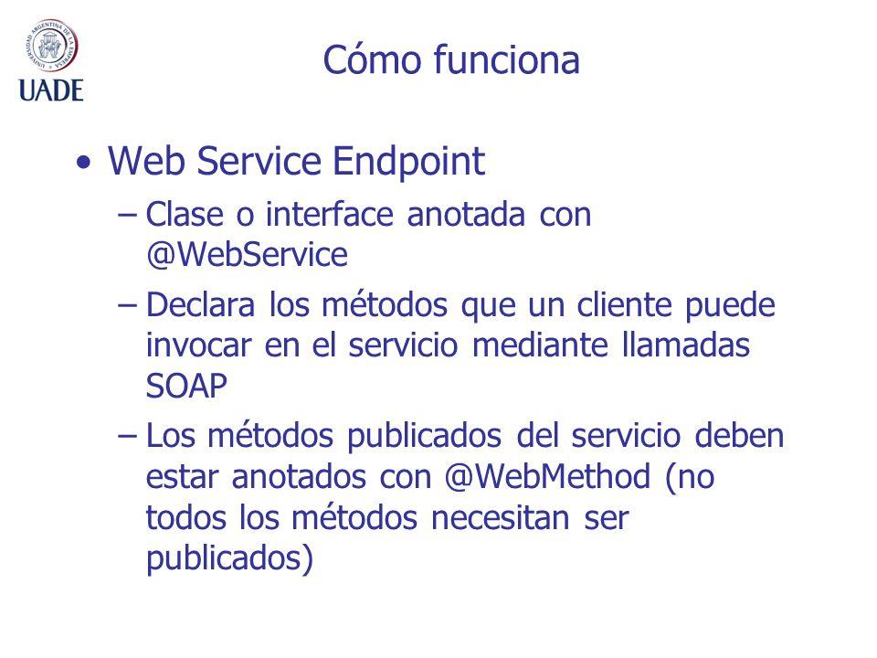 Cómo funciona Web Service Endpoint