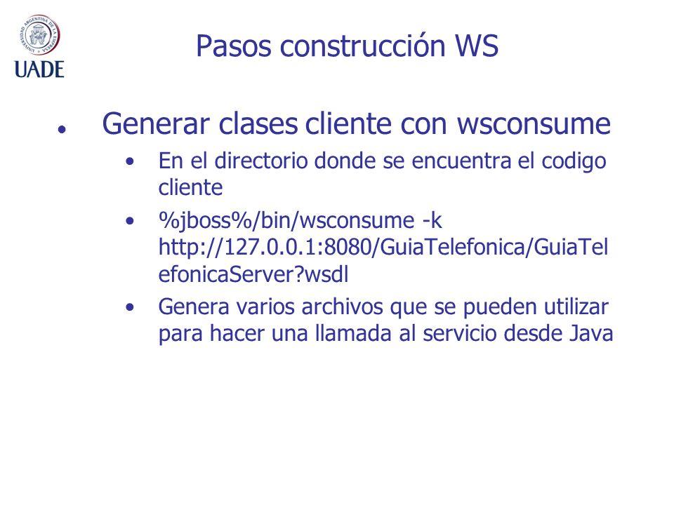 Generar clases cliente con wsconsume