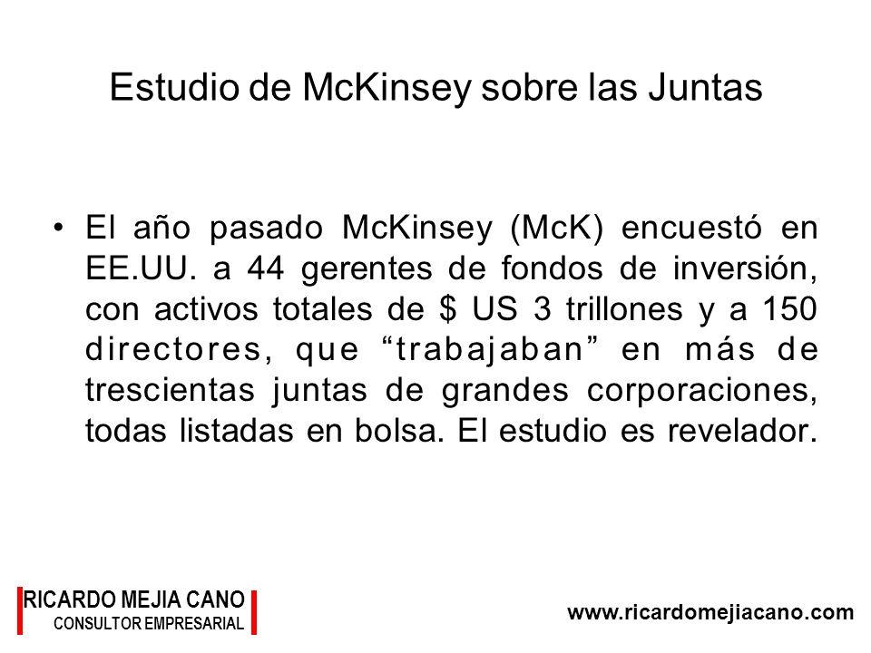 Estudio de McKinsey sobre las Juntas