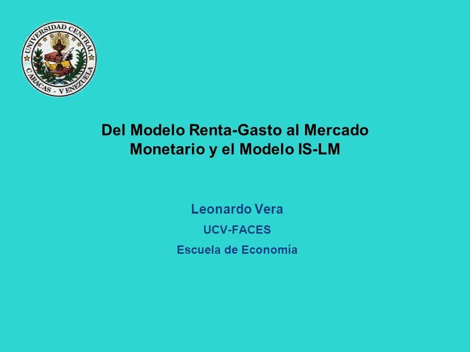 Del Modelo Renta-Gasto al Mercado Monetario y el Modelo IS-LM
