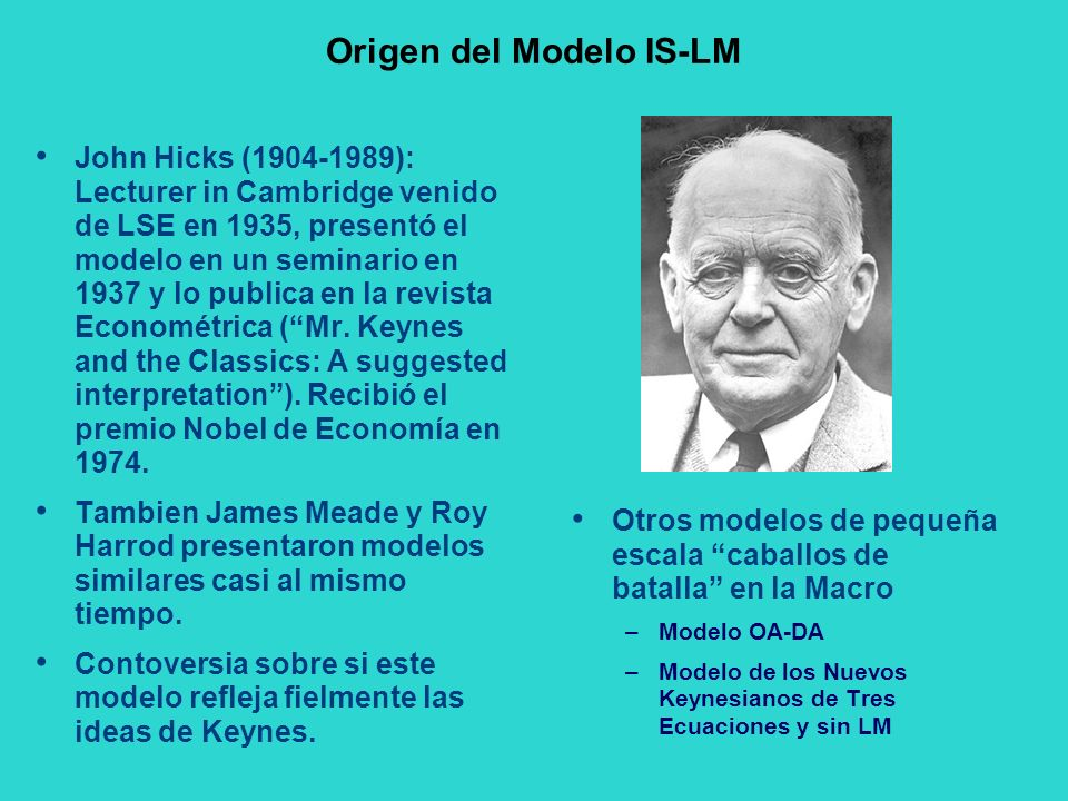 Origen del Modelo IS-LM